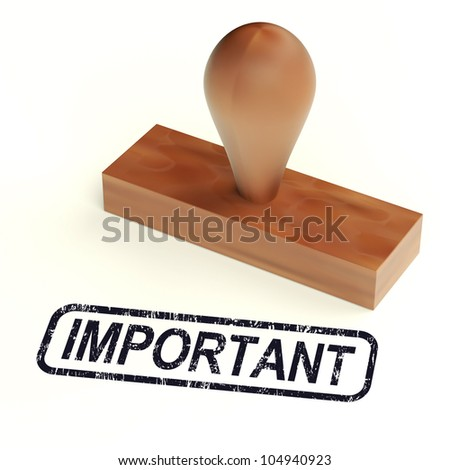 Important Rubber Stamp Showing Critical Information