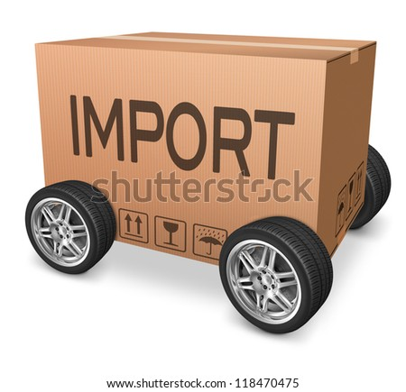 importation cardboard box logistics and freight transportation import and export