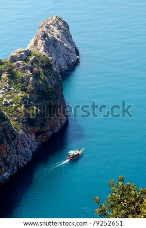 impresive cliff on turkish coastline