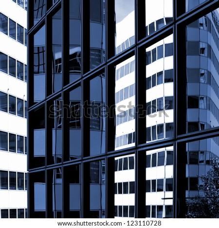 Impression of a gigantic facade