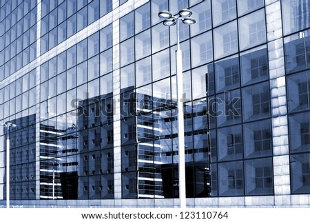 Impression of a gigantic facade - stock photo