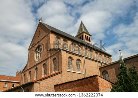 Impressive antique architecture in Leuven #1362222074