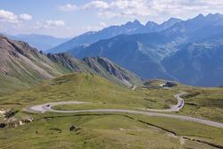Impressive mountainroad Grossglocknerstrasse in Austria
