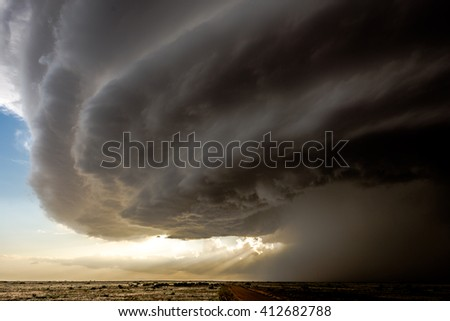 Shutterstock Impressive supercell storm in New Mexico, US, whose structure resembled a 'mother ship'.