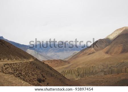 Impressive way, Annapurna Conservation Area, Himalayas, Nepal.
