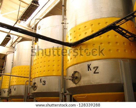 In a factory, where apple wine is made, Lithuania