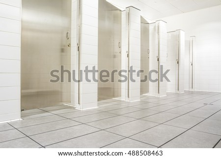 In an public building are womans toilets s #488508463