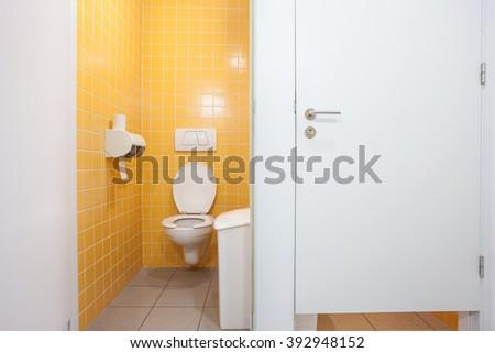 public bathroom doors. In An Public Building Are Womans Toilets Whit White Doors #392948152 Bathroom D