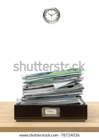 In and out office trays in an office situation