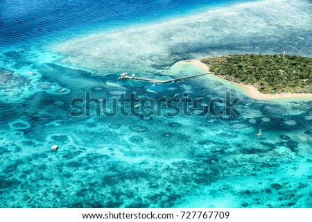in  australia natuarl park the great reef from the high concept of paradise #727767709