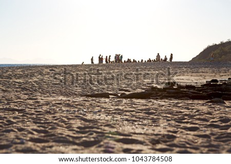 in australia  unidentified people  have party in the beach
