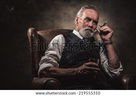 in chair sitting senior...