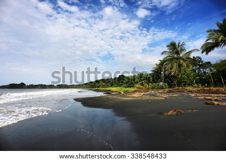 In Costa Rica not all the beaches are white sand.