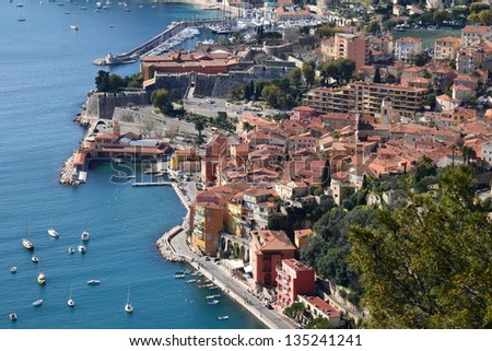 In France, Villefranche sur mer on the french riviera is a medieval city with its fortress and citadel, this city is especially known for its natural harbor.