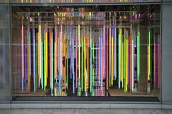 In front of the department store windows in New York or elsewhere, the light invaded my eyes.