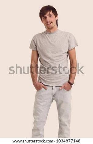 Young adult man, 20s, ordinary guy … Stock Photo 539197786