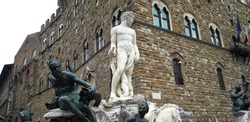 In Italy, the Fountain of Neptune, also known as the Biancone, located in Piazza della Signoria in Florence represents a great monument celebrating the power of Cosimo I Medici