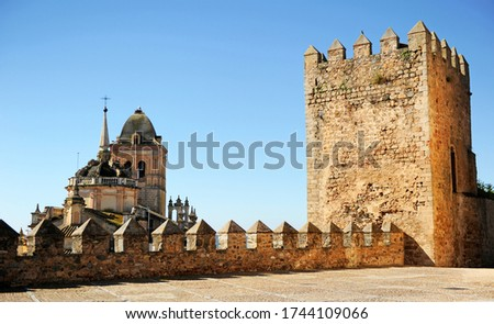 In Jerez de los Caballeros the Alcazaba castle, a famous and monumental town of Badajoz province in Extremadura, Spain