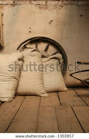 In old mill house - stock photo