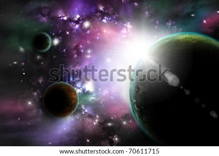 in outer space