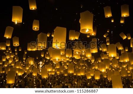 In Thailand,Firework Festival in Chiangmai Thailand