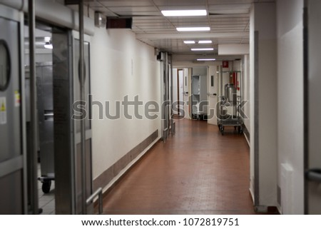 in the corridors of the hospital #1072819751
