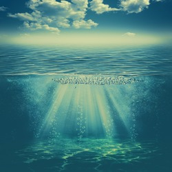 in the deep water, abstract environmental backgrounds