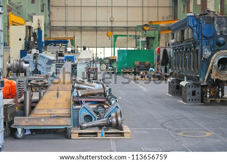 In the repair workshop shipyard