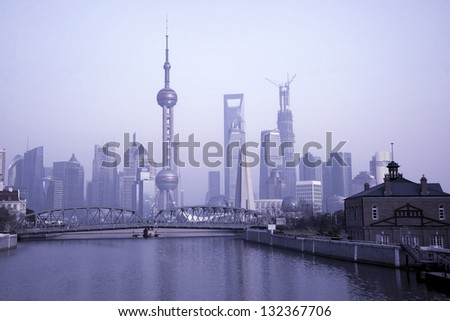 In 2013 the Shanghai skyline