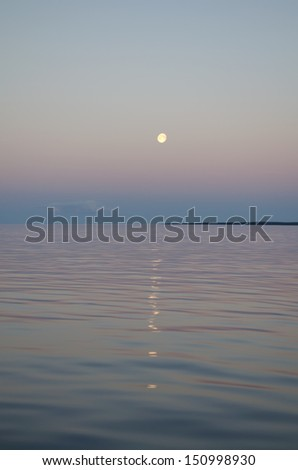 In the summer night by the White sea