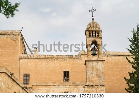 In Turkey is the view of the historic old church located in Mardin. Stok fotoğraf ©