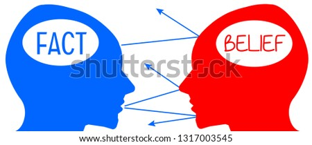 Inability to change someone's mind and beliefs with facts Stock foto ©