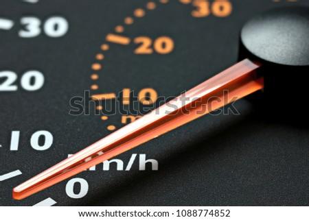 inactive speedometer of a truck
