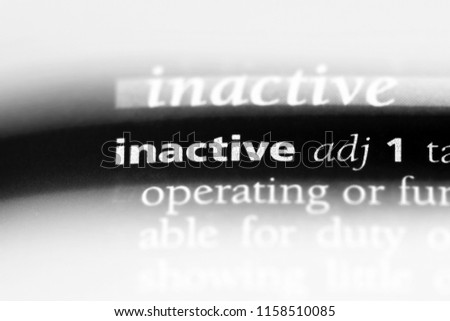 inactive word in a dictionary. inactive concept.