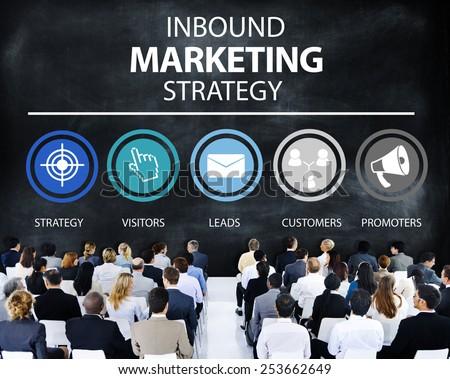 Inbound Marketing Strategy Advertisement Commercial Branding Concept