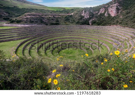 Inca Agricultural research station, Moray, Peru #1197618283