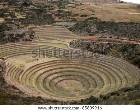 Inca agricultural site at Moray, Peru