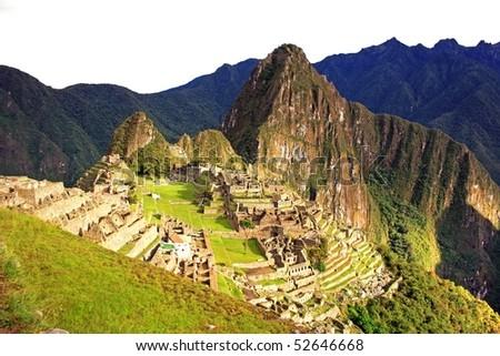 Inca City Machu Picchu in Peru, South America