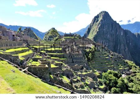 Inca ruins of Machu Picchu, Peru #1490208824
