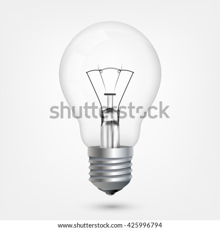 Incandescent energy saving light bulb #425996794