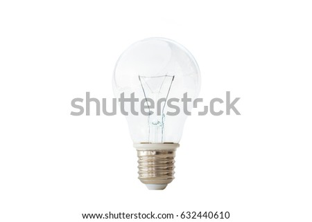 Incandescent light-bulb isolated on white background