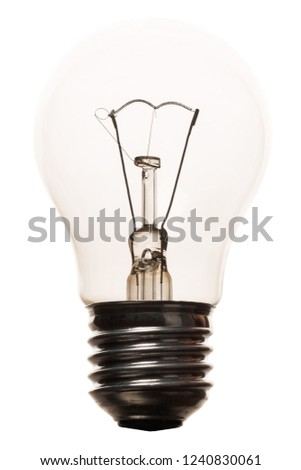 incandescent lighted bulb isolated on white background