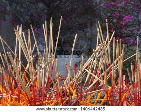 Incense for worshiping Thai people