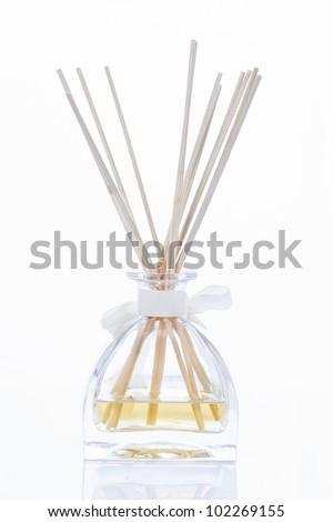Incense sticks on bedside table