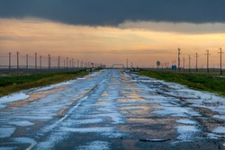 Inclement weather, hail, ice on the road, Hailstone On Road
