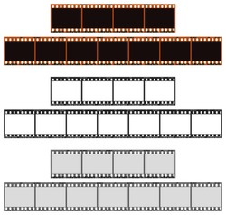 Includes an outline path and a path around the frames. Three versions of a four and seven frame color 35mm filmstrip. Very detailed and easy to edit.