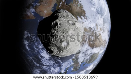 Photo of  Incoming Asteroid on Planet Earth