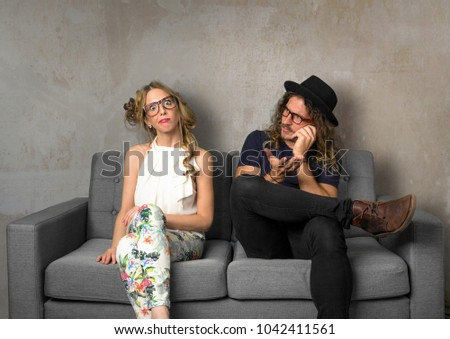 Incompatible couple leaves girlfriend bored and ignored while man is on cellphone