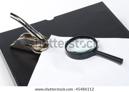 incorporation seal stamper - stock photo
