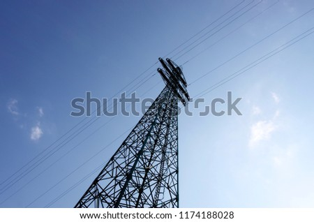 Increase Electricity Prices. electricity pylon, electricity concept background